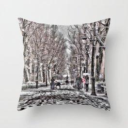 Frozen boulevard Throw Pillow