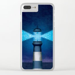 Stars Lighthouse Clear iPhone Case
