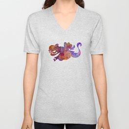 Rapunzel and partner 01 in watercolor Unisex V-Neck