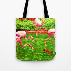 Flaming Flamingo Tote Bag