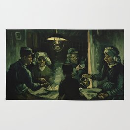 Vincent Van Gogh The Potato Eaters Rug