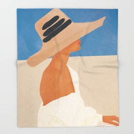 Summer Hat Throw Blanket