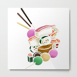 Sushi and Sweets - Inside Metal Print