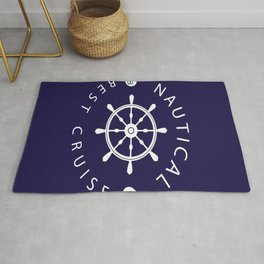 ship rudder Rug