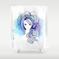 waterfall Shower Curtains featuring Waterfall by Sherry Yuan