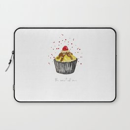 watercolor yellow and black muffin Laptop Sleeve