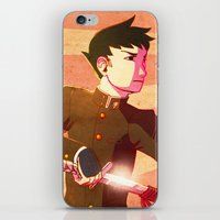 lawyer iPhone & iPod Skins featuring Swordsman Lawyer by Zulaya