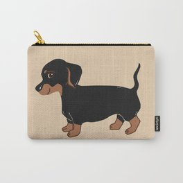 Black and Brown Dachshund Art Carry-All Pouch