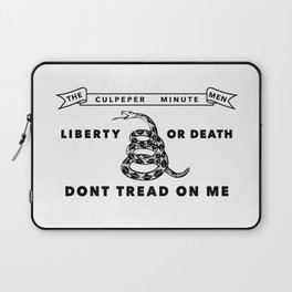 Culpeper Minutemen flag - Authentic version Laptop Sleeve