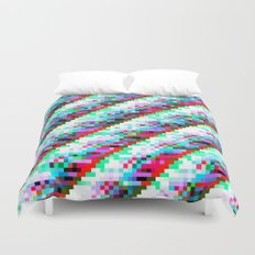 filtered diagonals Duvet Cover