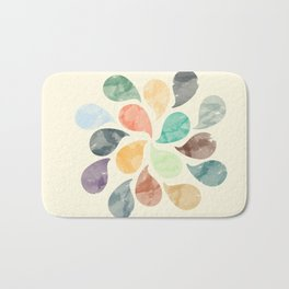 Colorful Water Drops (Watercolor version) Bath Mat