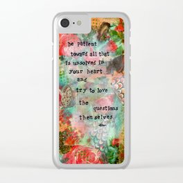 Be Patient Clear iPhone Case