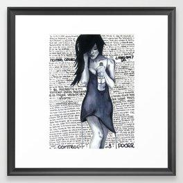 Heart Full of Wine Framed Art Print
