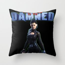 Protected by the Damned Throw Pillow