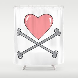 Pirated love Shower Curtain