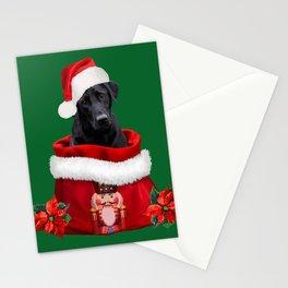 Labrador Dog Santa Claus Nutcracker Christmas Bag Stationery Cards