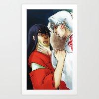 inuyasha Art Prints featuring Inuyasha - Disgrace by MyopicBloom