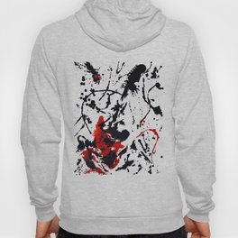 Red and Black Abstract Guitar Hoody