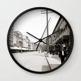 State Street in Ithaca, New York Wall Clock