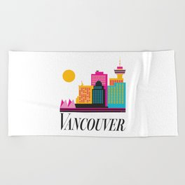 Vancouver Coal Harbour Beach Towel