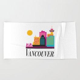 Vancouver Coal Harbour Beach Towel