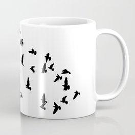Flock of flying birds Coffee Mug