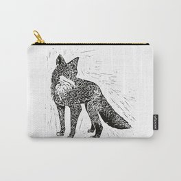 Fox Linoprint Carry-All Pouch