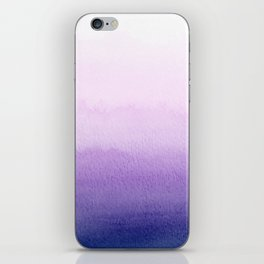 Purple Watercolor Design iPhone Skin