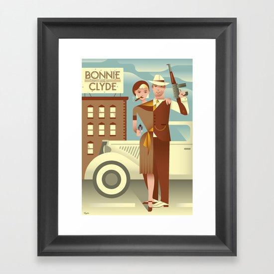Bonnie & Clyde Framed Art Print