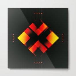 Fire Element Zer0 Metal Print