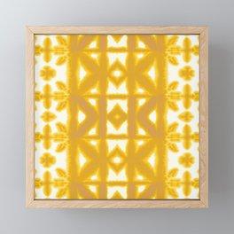 Yellow Pima Shibori Framed Mini Art Print