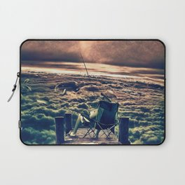 Fishing Above the Clouds Laptop Sleeve