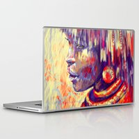 african Laptop & iPad Skins featuring African portrait by Marta Zawadzka