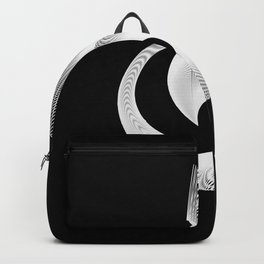 Black White Minimal Geometry Graphic Harmonic Abstract Line Backpack