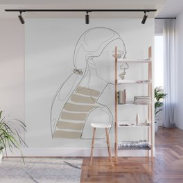 In Cream Lines Wall Mural