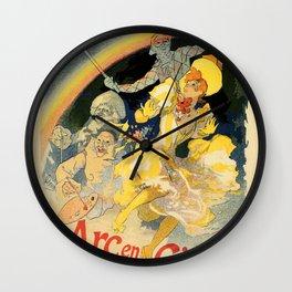 The rainbow L'arc en ciel ballet Wall Clock