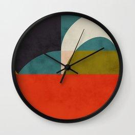 geometry shapes 2 Wall Clock
