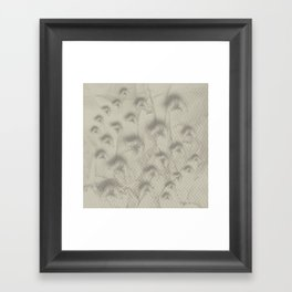 Butterfly swarm on textured chevron pattern Framed Art Print
