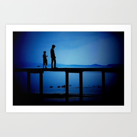 WHEN I'M FEELING BLUE Art Print