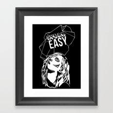Speak Easy Framed Art Print