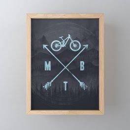 Downhill MTB Framed Mini Art Print