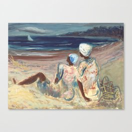 On the Beach by Victor Laredo Canvas Print