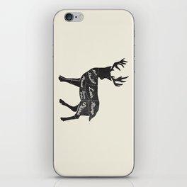 Venison Butcher Diagram-Deer iPhone Skin
