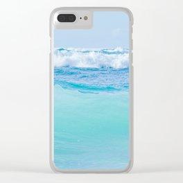 Kapukaulua Pure Blue Surf Clear iPhone Case