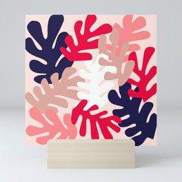 Pink Floral Cutouts Pattern Mini Art Print