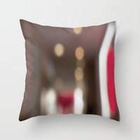 ramen Throw Pillows featuring Red Ramen by Ava Elise