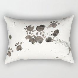 Cat Ran Away With the Ink Rectangular Pillow