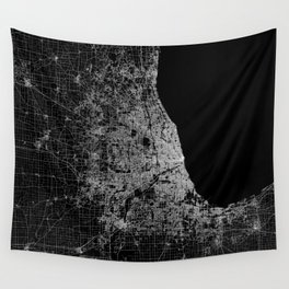Chicago map Wall Tapestry