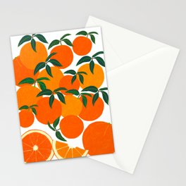 Orange Harvest - White Stationery Cards