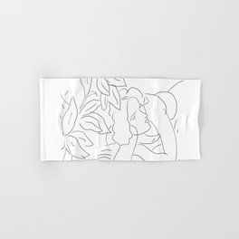 Matisse Line Art #5 Hand & Bath Towel